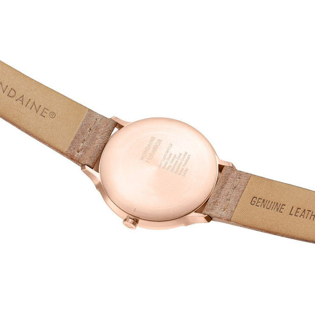 Helvetica Light, 38 mm, brown leather watch, MH1.L2211.LG,1
