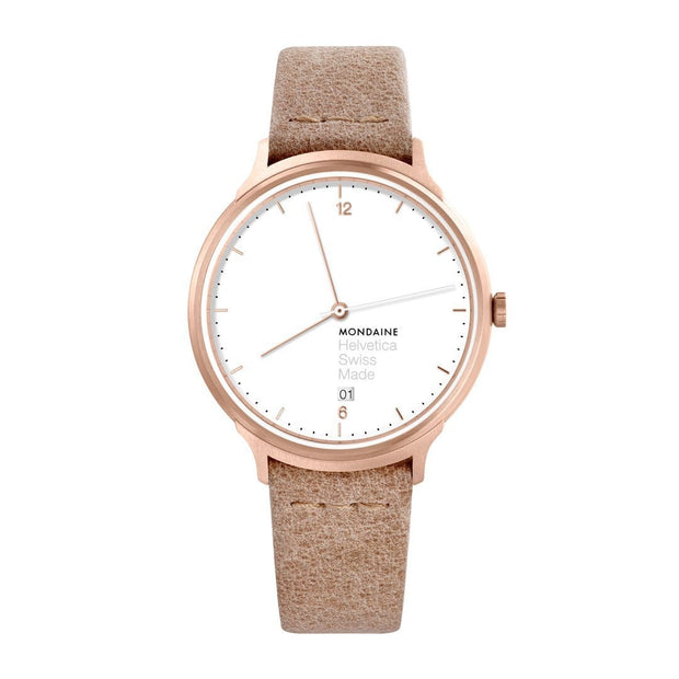 Helvetica Light, 38 mm, brown leather watch, MH1.L2211.LG,3