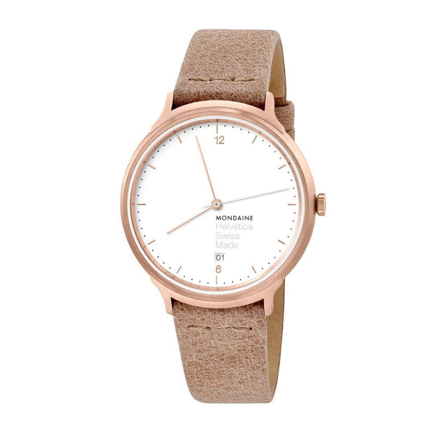 Helvetica Light, 38 mm, brown leather watch, MH1.L2211.LG