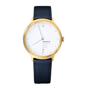 Helvetica Light, 38 mm, casual leather watch, MH1.L2211.LB