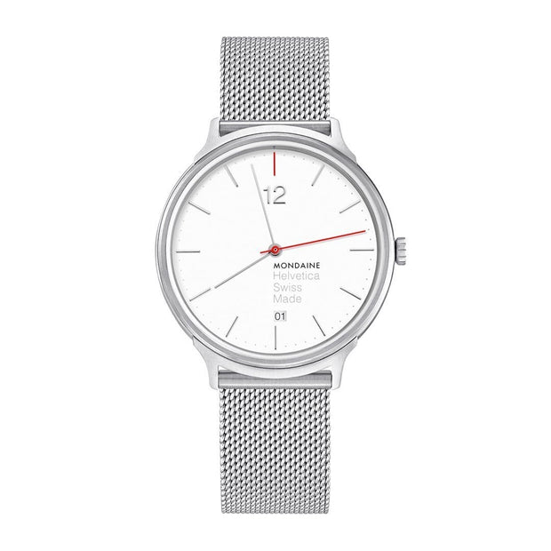 Helvetica Light, 38 mm, classic stainless steel watch, MH1.L2212.SM,4