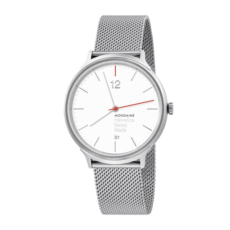 Helvetica Light, 38 mm, classic stainless steel watch, MH1.L2212.SM