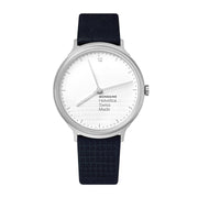 Helvetica Light, 38 mm, minimalist black leather watch, MH1.L2110.LD,3