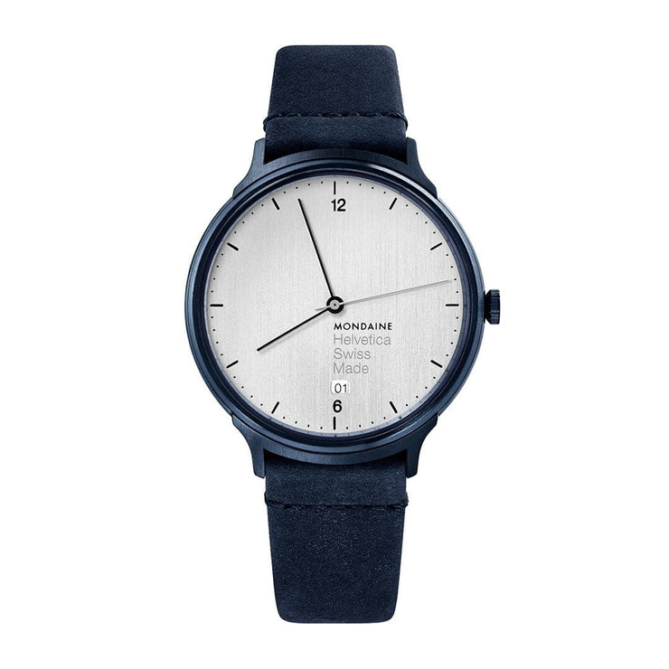 Helvetica Light, 38 mm, minimalist leather watch, MH1.L2210.LD,3