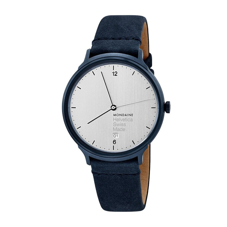 Helvetica Light, 38 mm, minimalist leather watch, MH1.L2210.LD