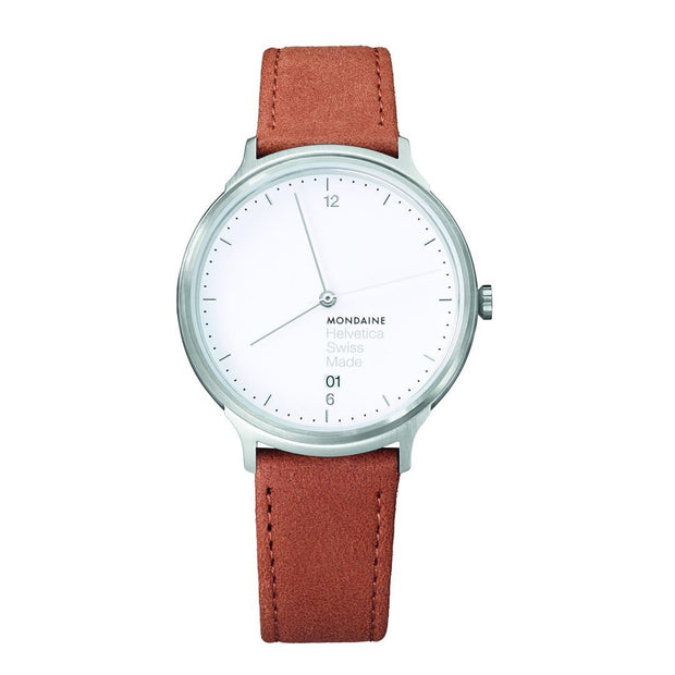 Helvetica Light, 38 mm, minimalist leather watch, MH1.L2210.LG,3