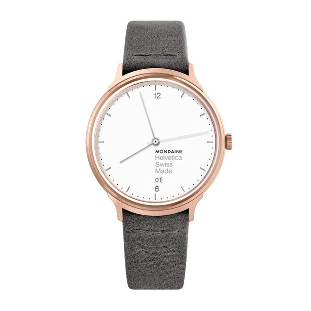 Helvetica Light, 38 mm, minimalist leather watch, MH1.L2210.LH,3