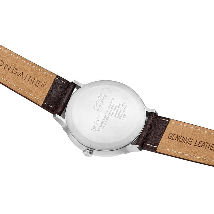 Helvetica Light, 38 mm, minimalist leather watch, MH1.L2212.LG,2