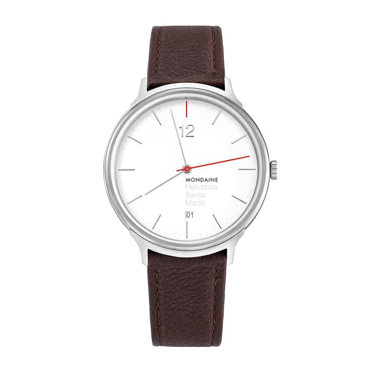 Helvetica Light, 38 mm, minimalist leather watch, MH1.L2212.LG,4