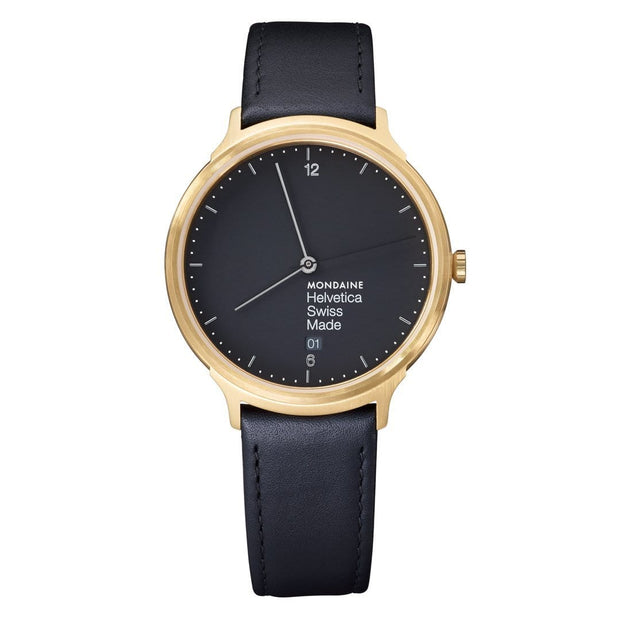 Helvetica Light, 38 mm, minimalist leather watch, MH1.L2221.LB,4