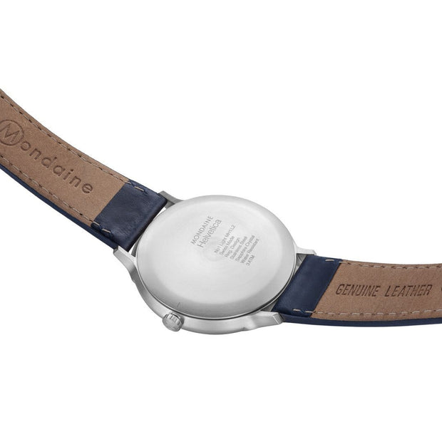 Helvetica Light, 38 mm, minimalist leather watch, MH1.L2240.LD,3