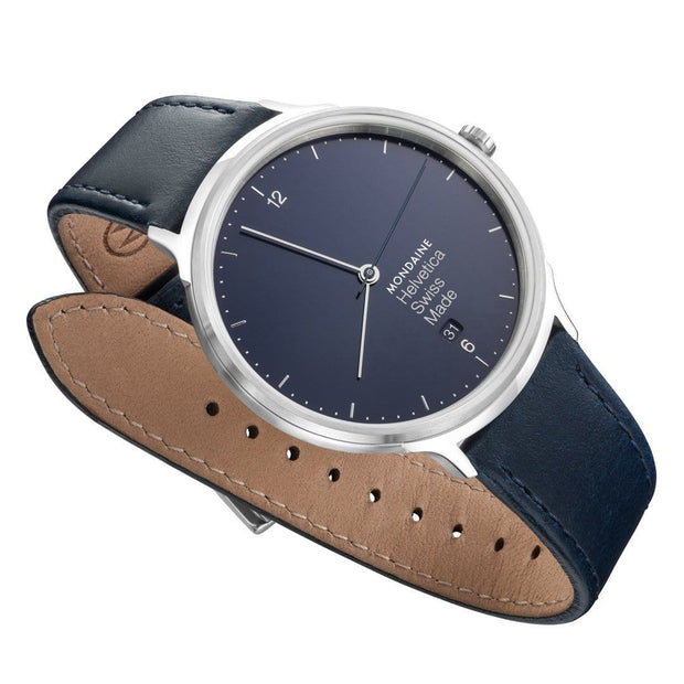 Helvetica Light, 38 mm, minimalist leather watch, MH1.L2240.LD,5