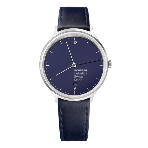 Helvetica Light, 38 mm, minimalist leather watch, MH1.L2240.LD,6