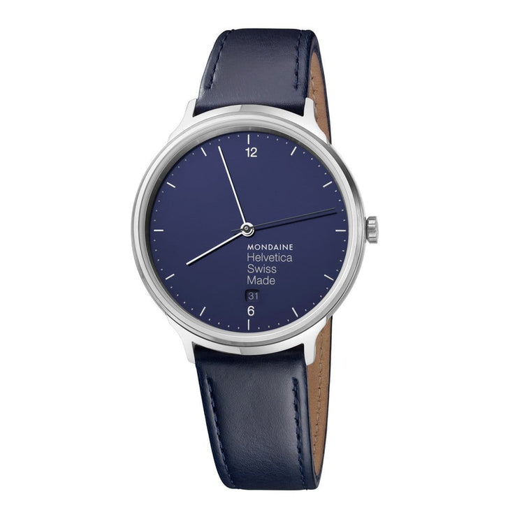 Helvetica Light, 38 mm, minimalist leather watch, MH1.L2240.LD