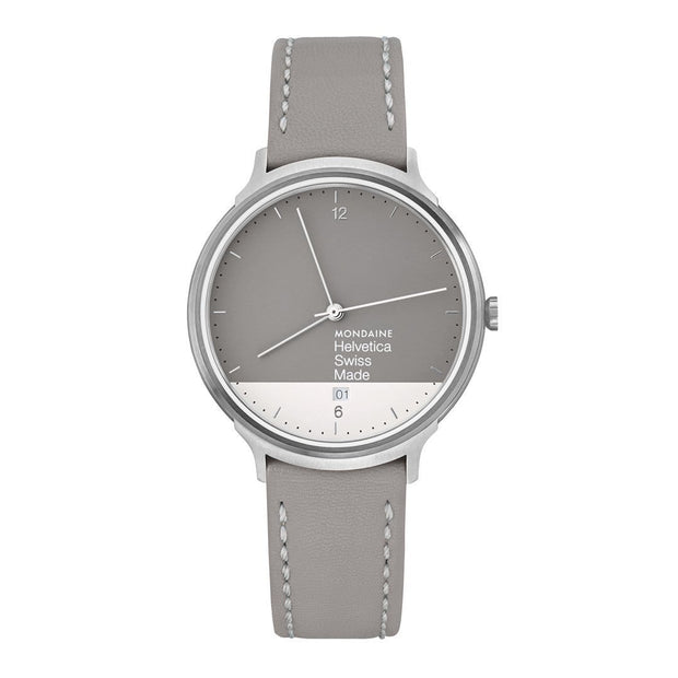 Helvetica Light, 38 mm, minimalist leather watch, MH1.L2280.LH,1
