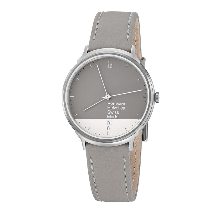 Helvetica Light, 38 mm, minimalist leather watch, MH1.L2280.LH