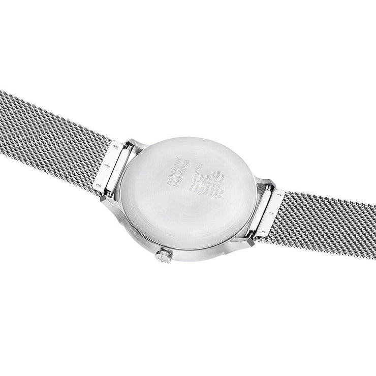 Helvetica Light, 38 mm, minimalist stainless steel watch, MH1.L2210.SM,2