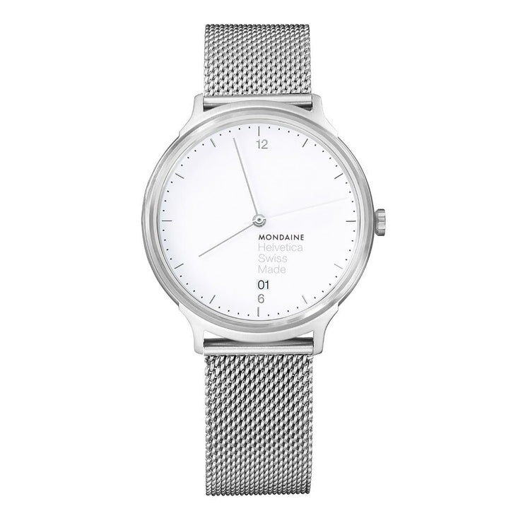 Helvetica Light, 38 mm, minimalist stainless steel watch, MH1.L2210.SM,4