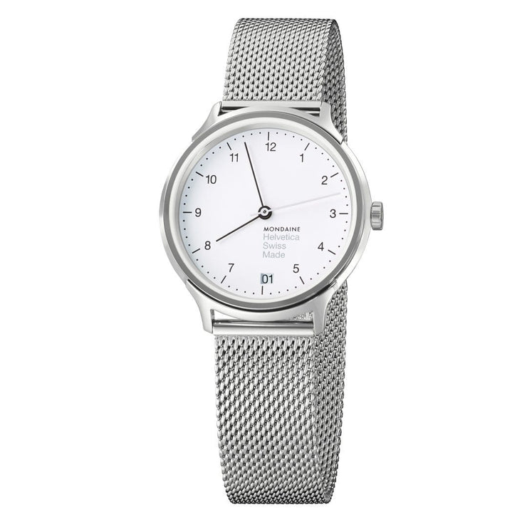 Helvetica Regular, 33 mm, stainless steel watch, MH1.R1210.SM