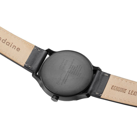 Helvetica Regular, 40 mm, black leather watch, MH1.R2223.LB,3
