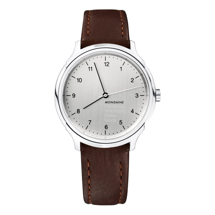 Helvetica Regular, 40 mm, brown leather watch, MH1.R3610.LG,5