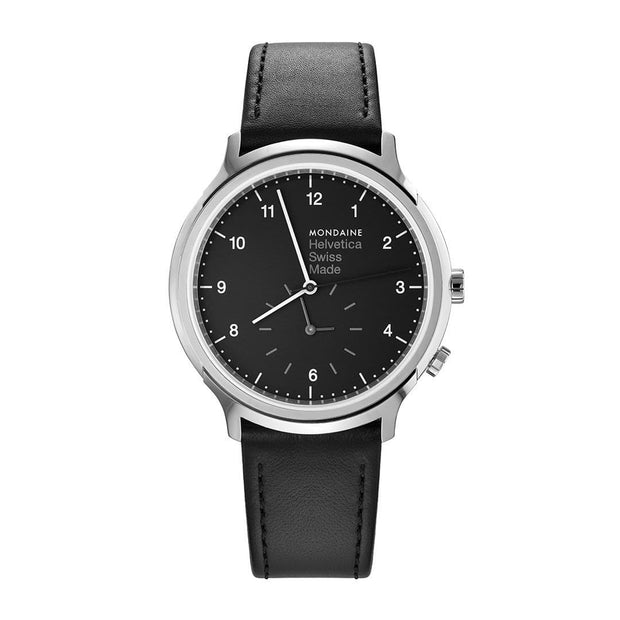 Helvetica Regular, 40 mm, casual leather watch, MH1.R2020.LB,5