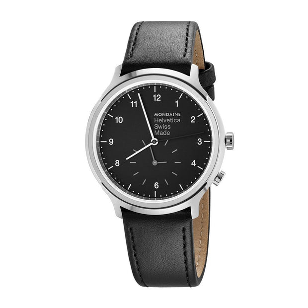 Helvetica Regular, 40 mm, casual leather watch, MH1.R2020.LB
