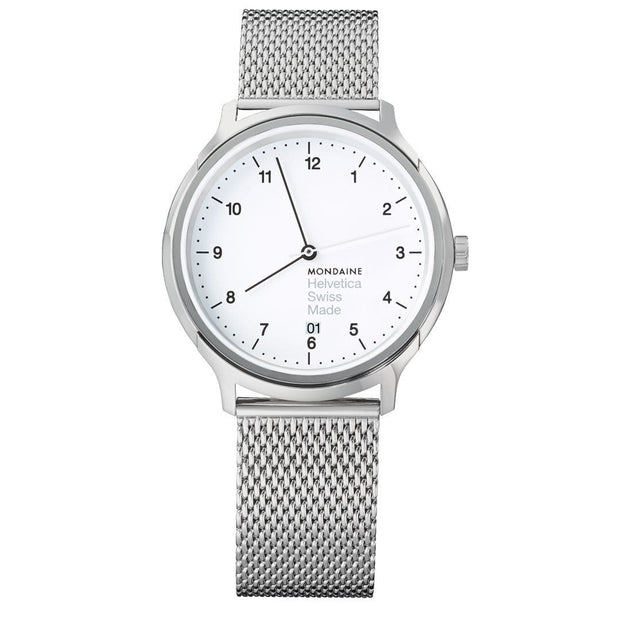 Helvetica Regular, 40 mm, stainless steel watch, MH1.R2210.SM