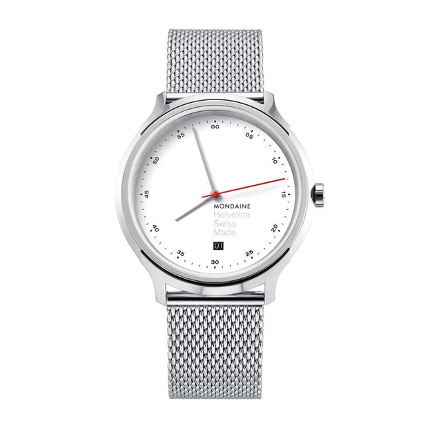 Helvetica Regular, 40 mm, stainless steel watch, MH1.R2211.SM,5