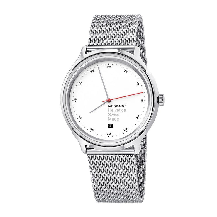 Helvetica Regular, 40 mm, stainless steel watch, MH1.R2211.SM