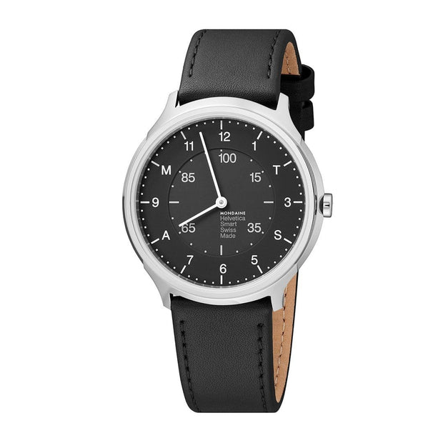Helvetica Smartwatch, 40 mm, modern leather watch, MH1.R2S20.LB