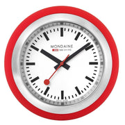 Red table clock, 60 mm, A660.30335.16SBC,1