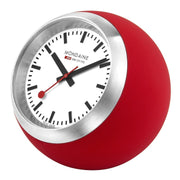 Red table clock, 60 mm, A660.30335.16SBC