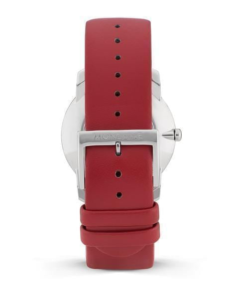 Simply Elegant, 36 mm, red leather watch, A400.30351.11SBC,3
