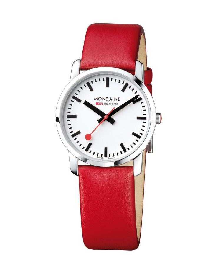 Simply Elegant, 36 mm, red leather watch, A400.30351.11SBC