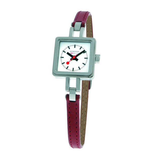 Specials, 20x20 mm, red leather watch for women, A666.30339.11SBC