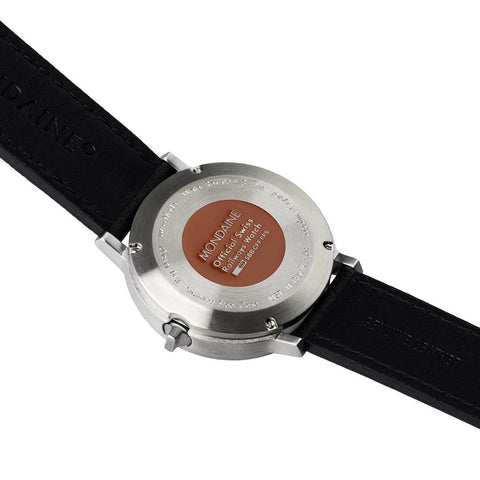Stop2Go, 41 mm, black leather watch, MST.4101B.LB,5