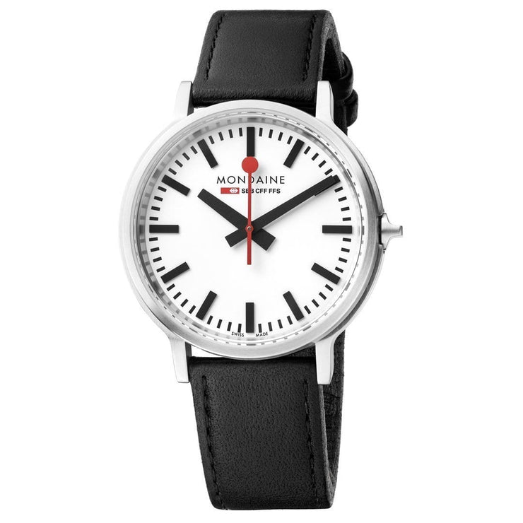 Stop2Go, 41 mm, black leather watch, MST.4101B.LB