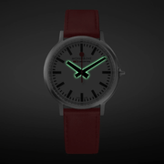 Stop2Go, 41 mm, red leather watch, MST.4101B.LC,4