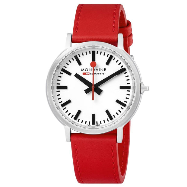 Stop2Go, 41 mm, red leather watch, MST.4101B.LC