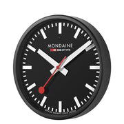 Wall clock, 25 cm, black kitchen clock, A990.CLOCK.64SBB