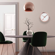 Wall clock, 25 cm, copper kitchen clock, A990.CLOCK.17SBK,1