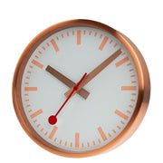Wall clock, 25 cm, copper kitchen clock, A990.CLOCK.17SBK