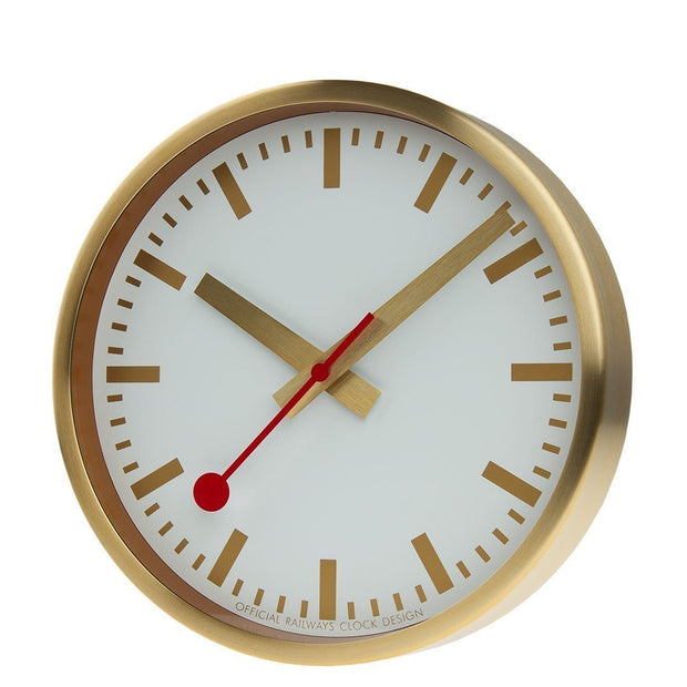 Wall clock, 25 cm, gold kitchen clock, A990.CLOCK.17SBG
