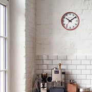 Wall clock, 25 cm, red kitchen clock, A990.CLOCK.11SBC,1