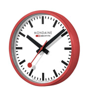 Wall clock, 25 cm, red kitchen clock, A990.CLOCK.11SBC