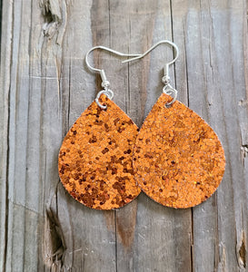 Chunky Pumpkin Orange Glitter