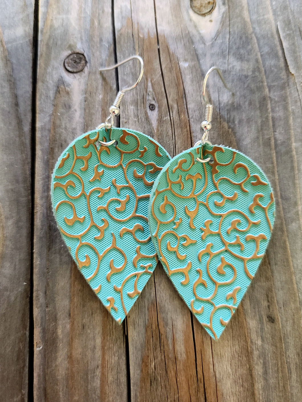 Turquoise with Intricate Detailing