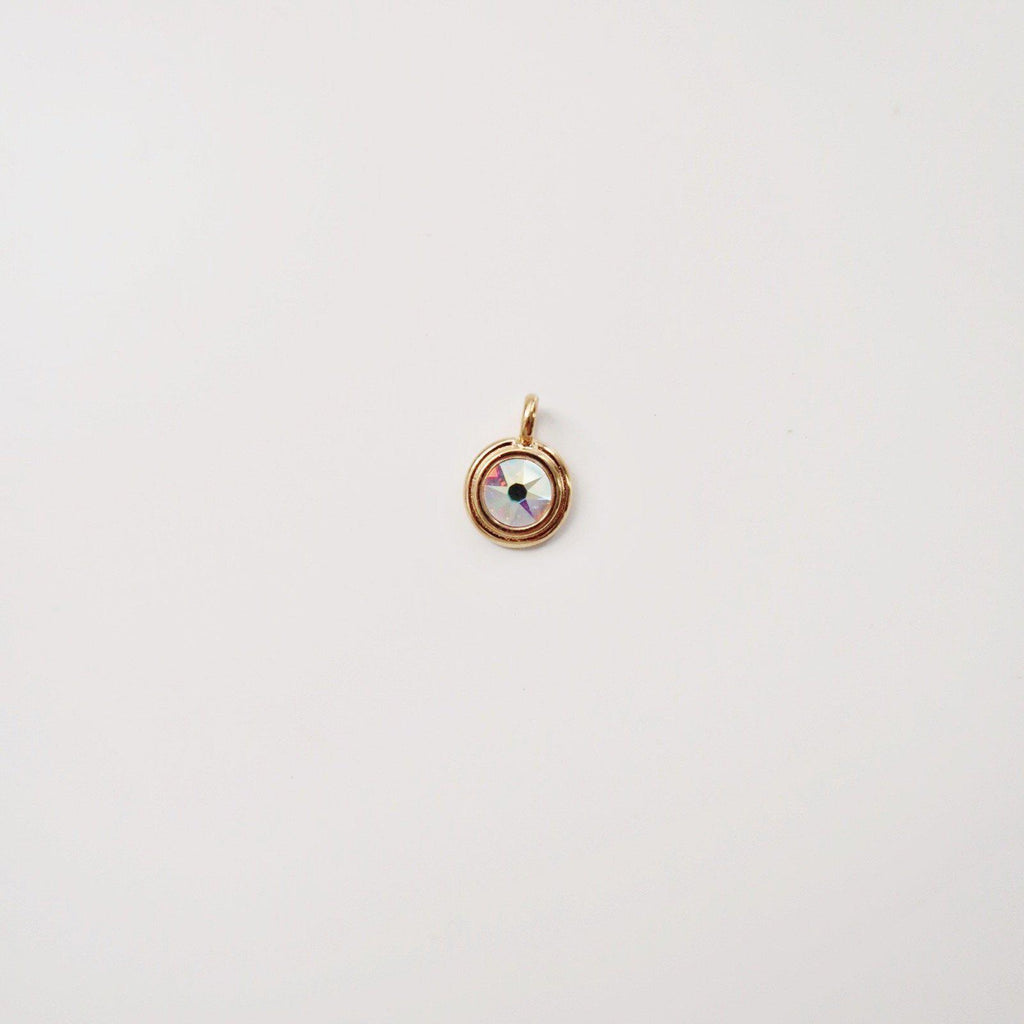 Bezel Charm with Crystal