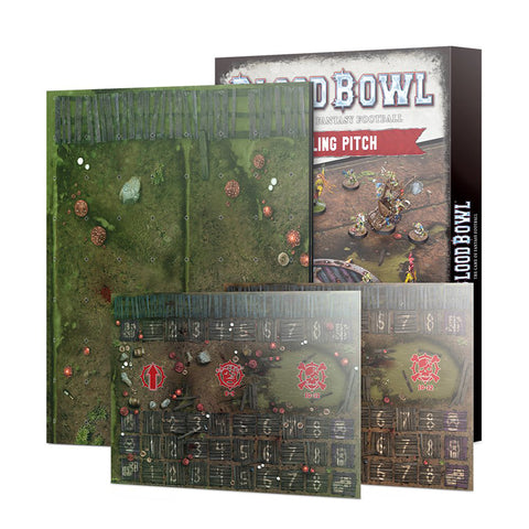 Blood Bowl Double-sided Snotling Pitch and Dugout Set